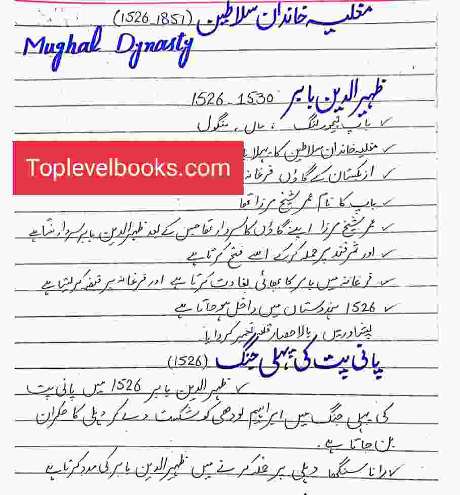 History PDF Notes By Waseem Meo