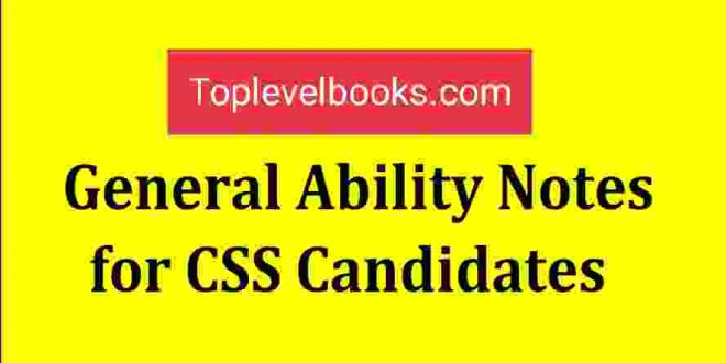 General Ability Notes, NOA Publishers
