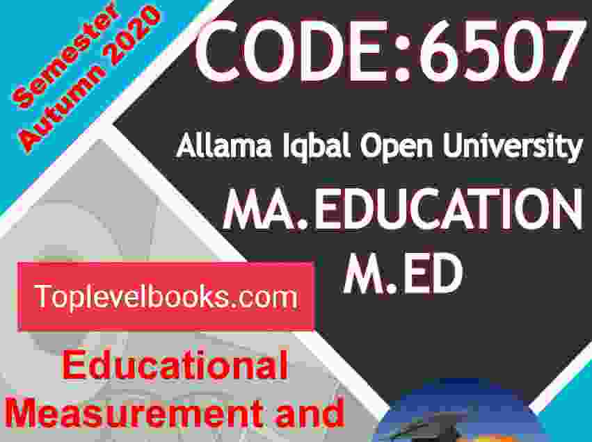 Allama Iqbal Open University Assignment Code 6500 6501 6503 6505 6507