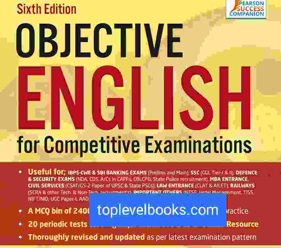 Objective English Xor competitive Examination Complete PDF