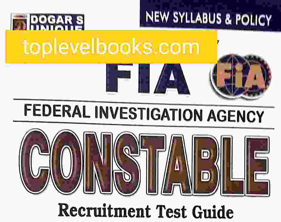 Constable FIA Book and FIA Past Papers PDF