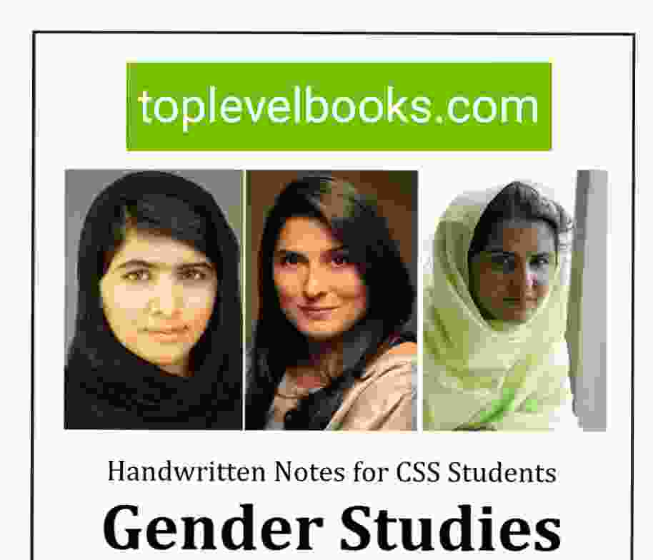 Gender Studies Hand written Notes for css students