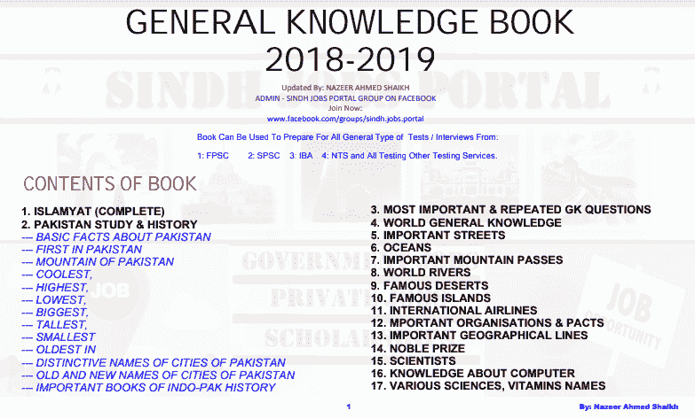 A Book of General Knowledge